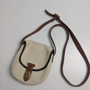 Fossil Crossbody Canvas Leather Small